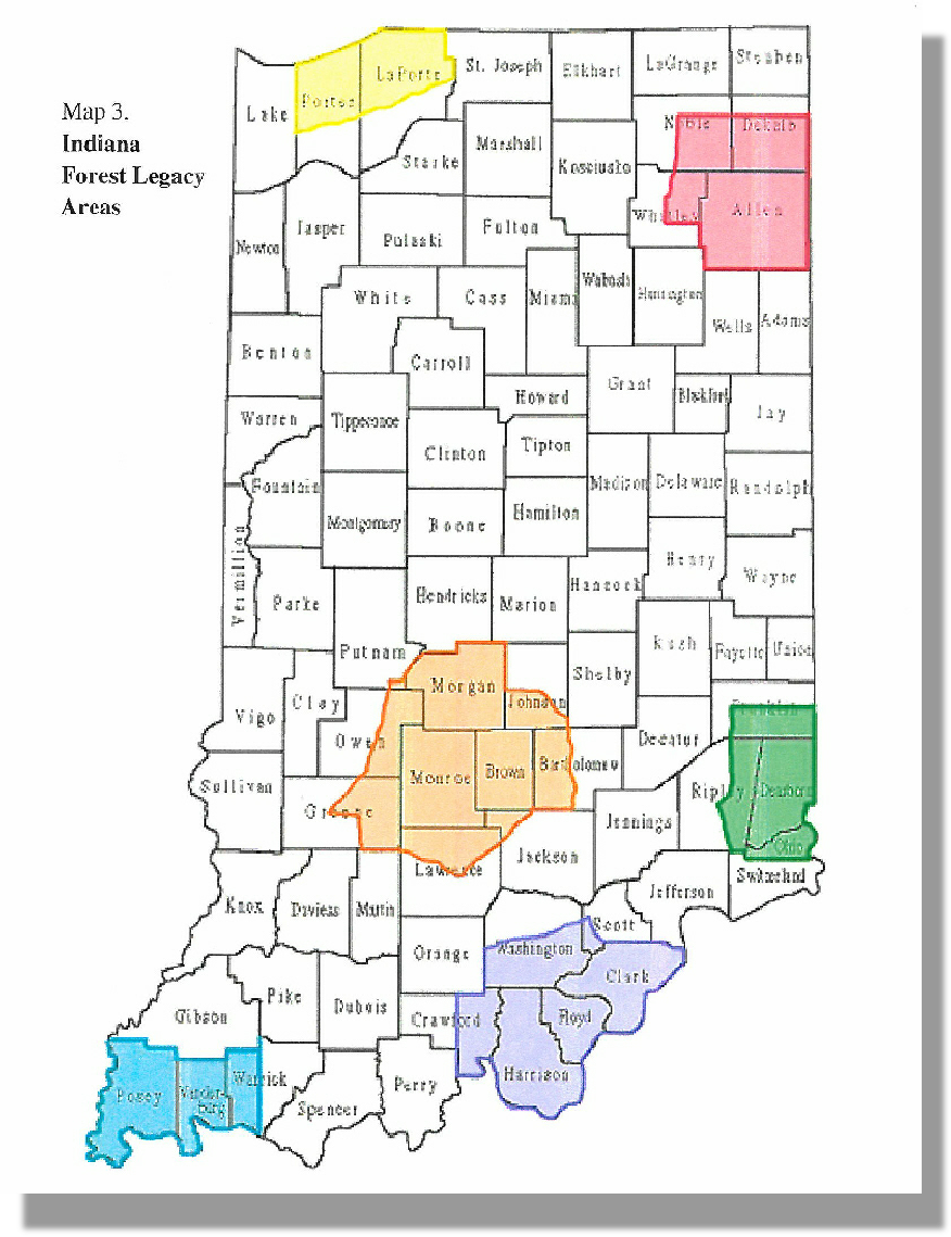Indiana Forest Legacy Areas