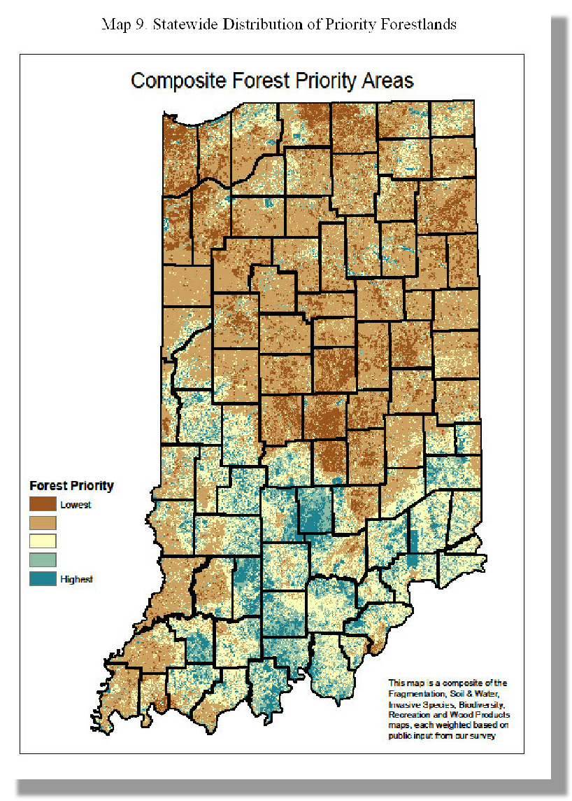 Statewide Distribution of Priority Forestlands